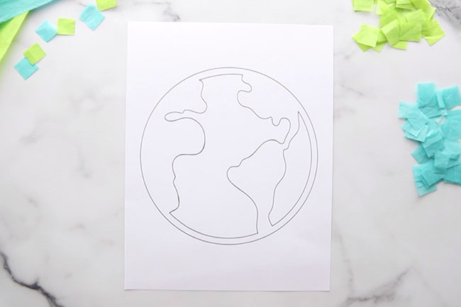 Print Earth Template Out