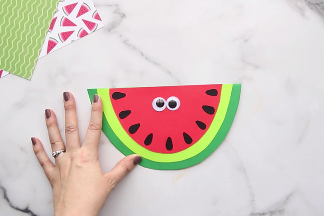 Glue Googly Eyes on Watermelon