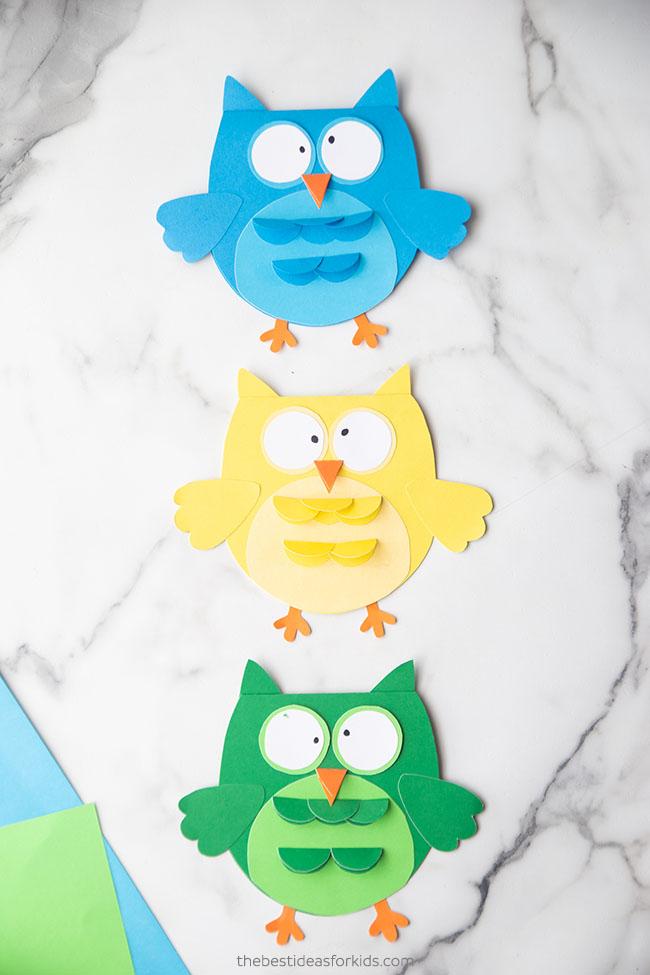 Owl Craft Card