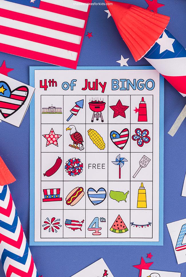 Bingo de 4 de julho para impressão