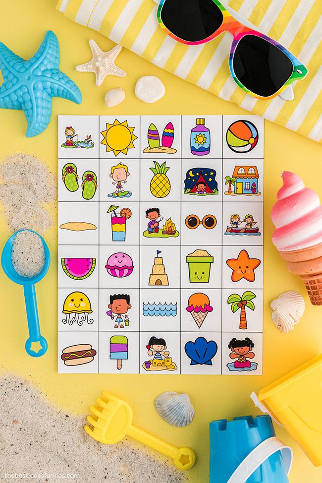 Cartões telefônicos de bingo de verão