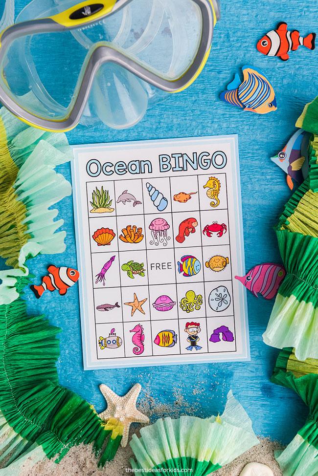 Ocean Bingo Free Printable