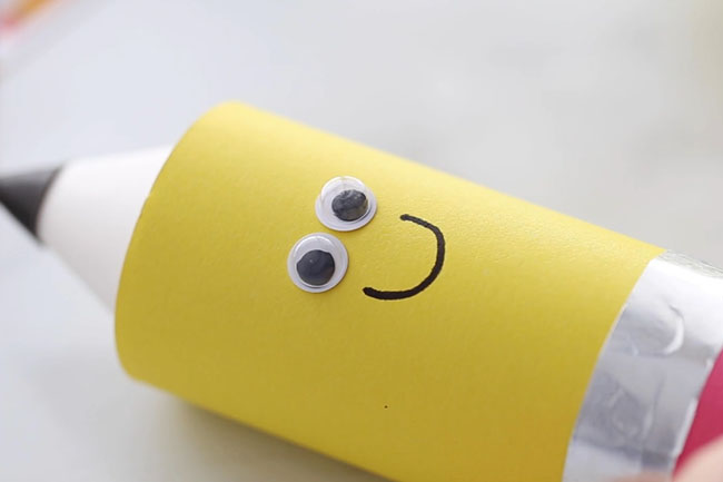 Add Smiley Face to Pencil
