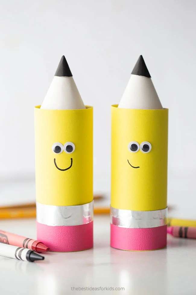 Toilet Paper Roll Pencil Craft