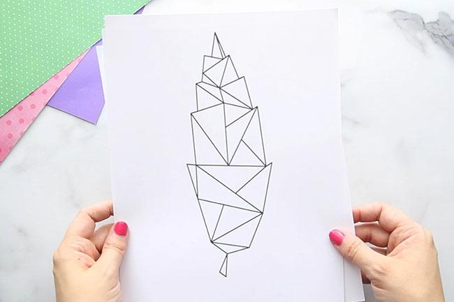 Free Printable Leaf Geometric Leaves