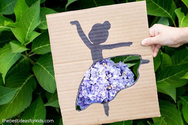 Purple Flower Ballerina Cutout