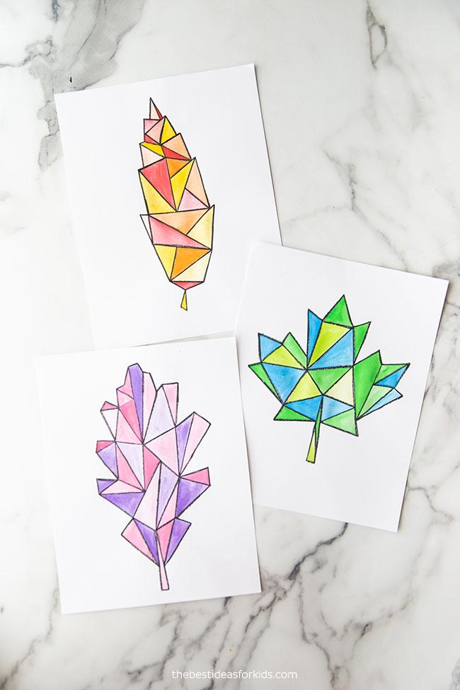 Watercolor Leaf Art Project