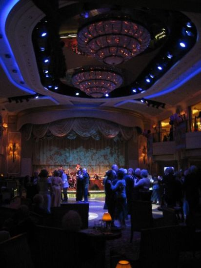 The Queens Room as our little band plays for the dancing