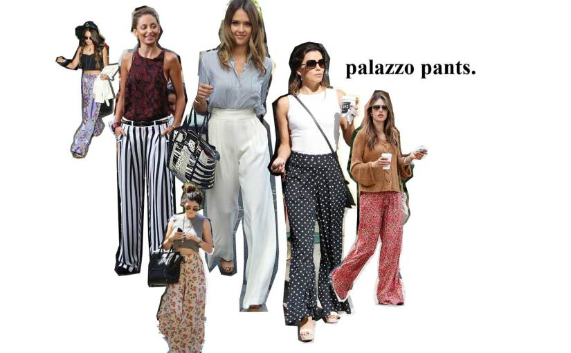 How to wear:  Palazzo Pants