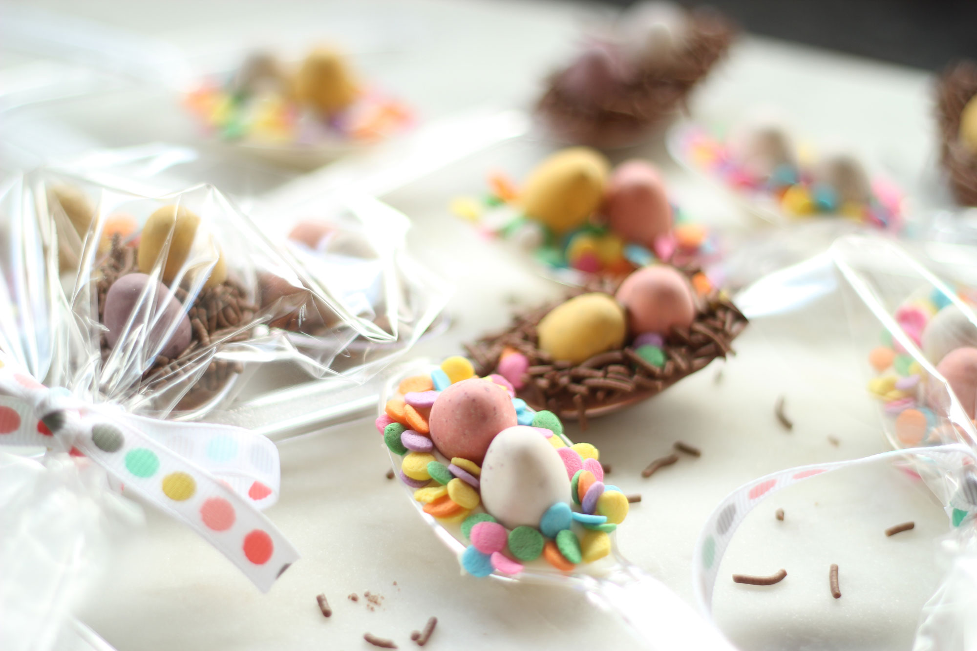 DIY: Chocolate Easter Nest Spoons + Happy Birthday Spotlight Giveaway!