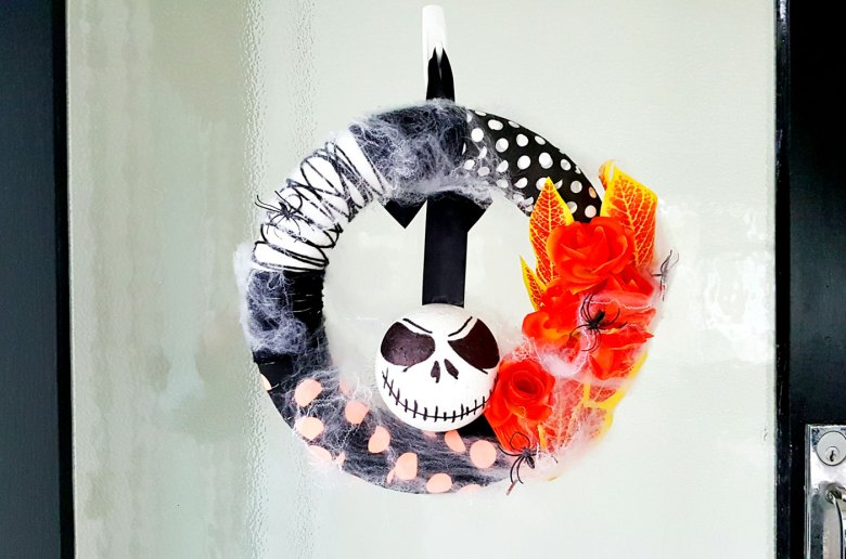 New Zealand's Top Mummy Blogger Parenting Travel Blog Halloween Wreath Nightmare Before Christmas