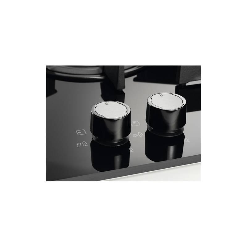 PLAQUE GAZ EMAIL GRANDE LARGEUR ELECTROLUX 5 FEUX INOX