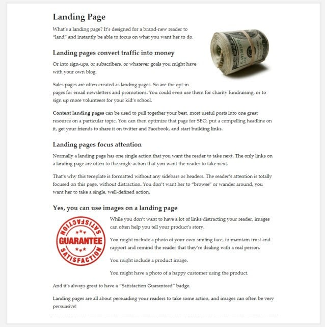 Use the Prose Theme as a Sales Letter - The Best Themes
