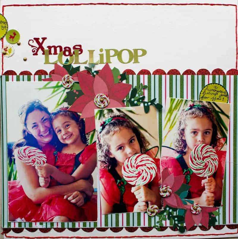 Christmas Lollipop Layout