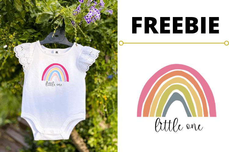 Download FREE Rainbow Little One Baby Onesie SVG Optin Page