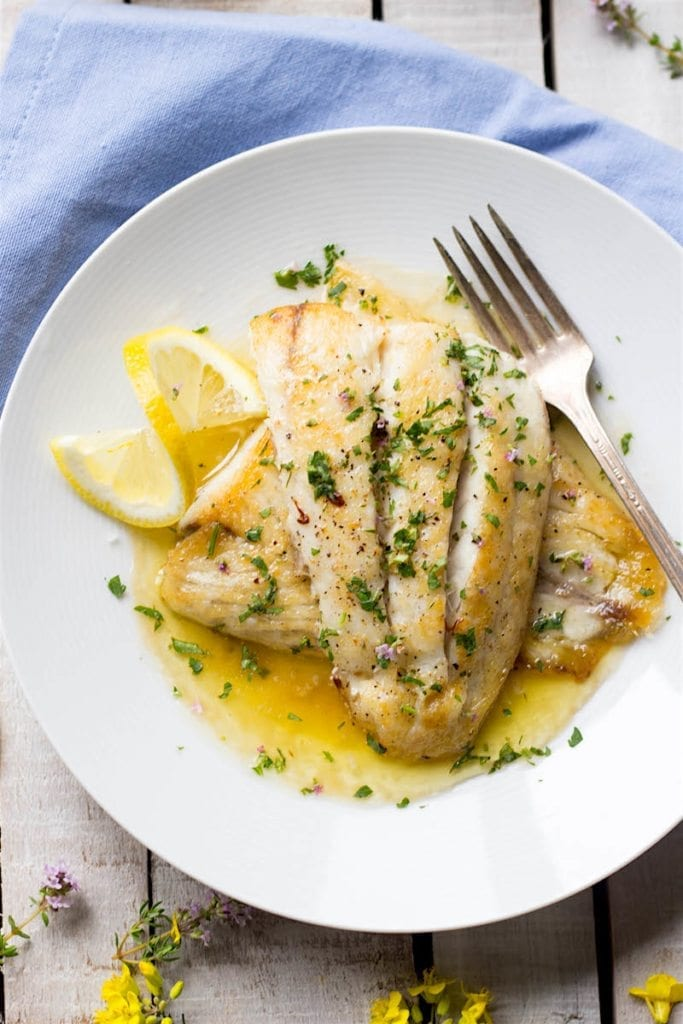 Barramundi with lemon butter sauce australis barramundi for Lemon fish sauce recipe