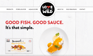 Love the Wild Splash Page with Barramundi Mango Sriracha