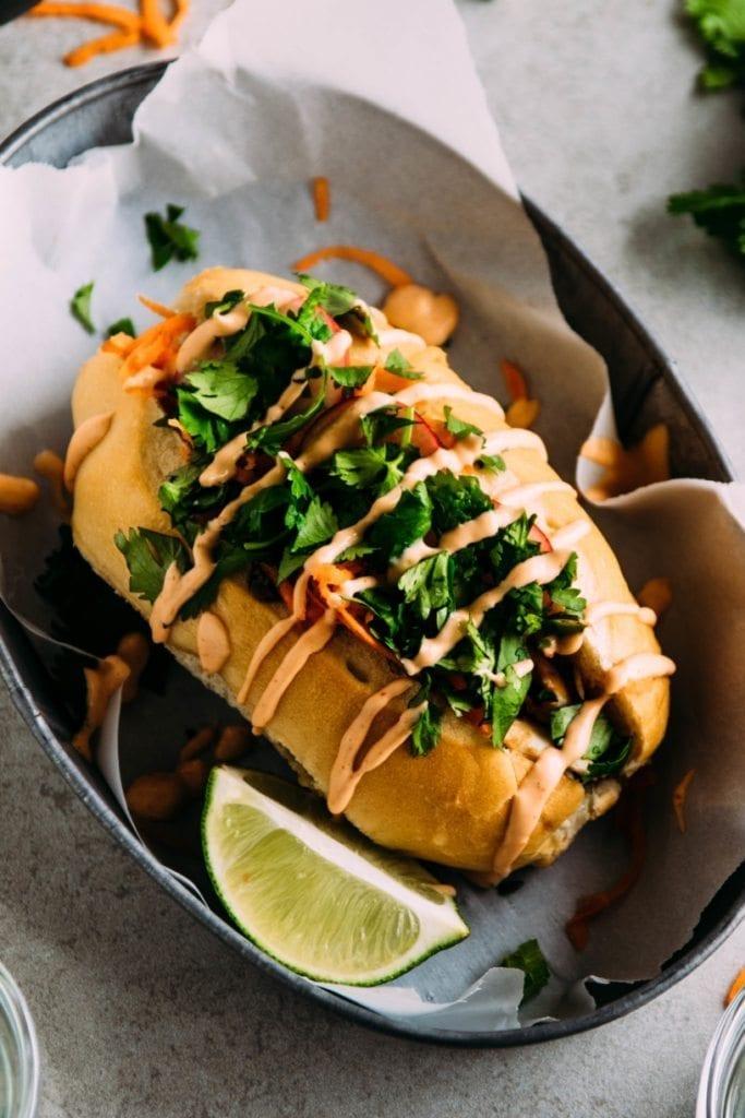 Hoisin Glazed Fish Sandwiches