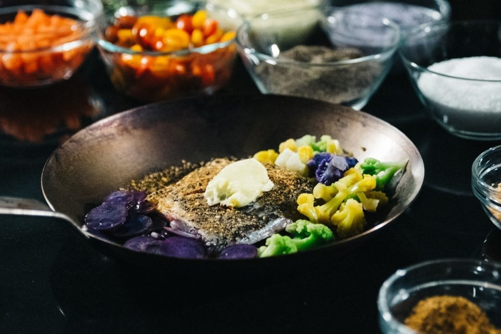 Broiled Barramundi with Heirloom Cauliflower