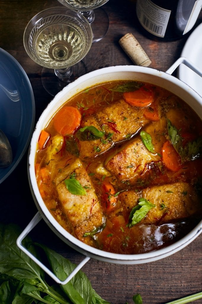 Barramundi Stew with Saffron Broth