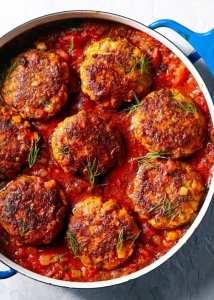 Fish Cakes with Chermoula Tomato Sauce