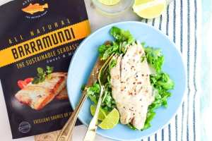 Grilled Lemongrass Coconut Barramundi