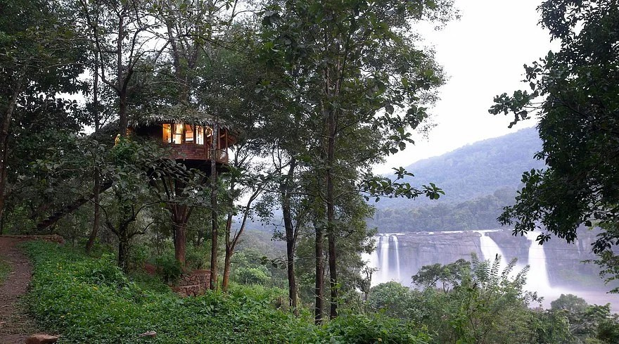 Rainforest Resort gives you a great view of Athirapally Falls, where Mani Ratnam filmed Guru.