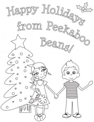 FREE Printable Advent Calendar Peekaboo Beans for the