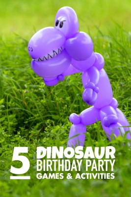5 dinosaur party games