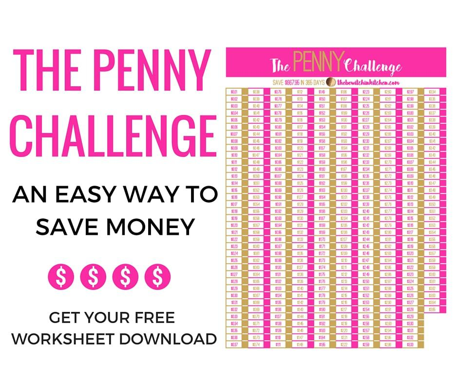 Easy Way To Save Money  The Penny Challenge  The