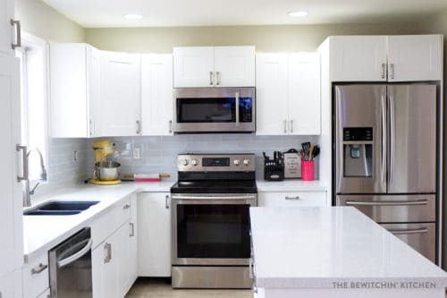 kitchen reno amazon cart i survived my diy renovation before afters the this all white was result of a using home depot s