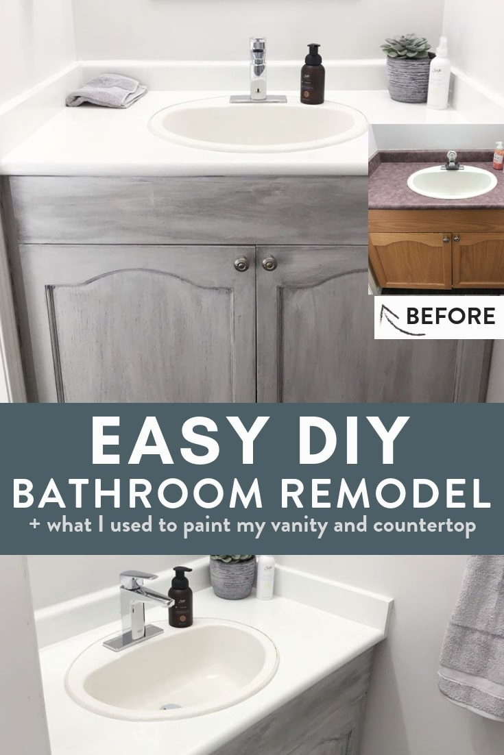 Easy No Fuss DIY Bathroom Remodel  The Bewitchin Kitchen