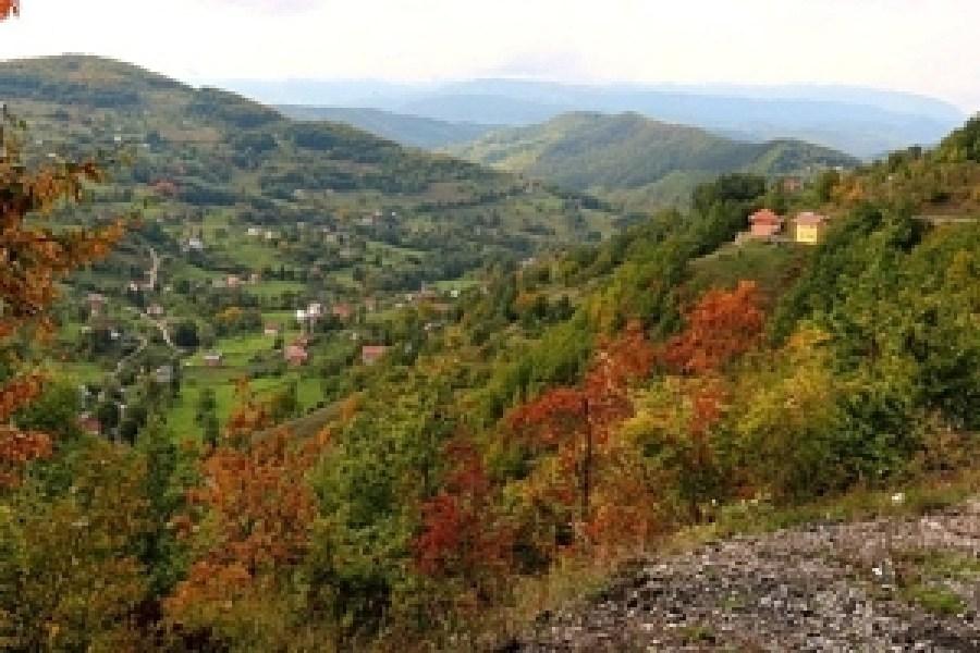 Beautiful views on big 4,600ft hill between Berane and Rozaje.