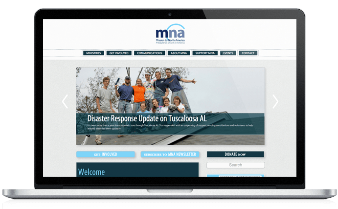 Mission to North America Homepage Design