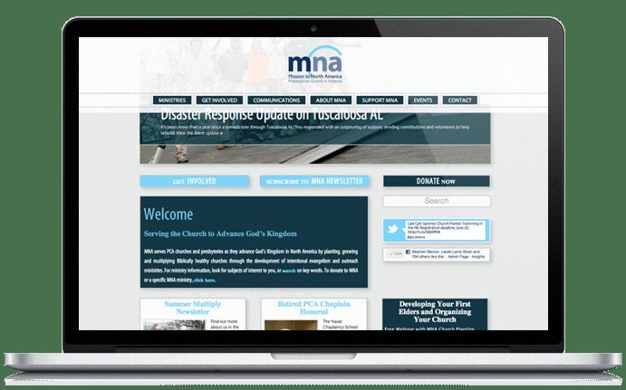 Mission to North America Web Design