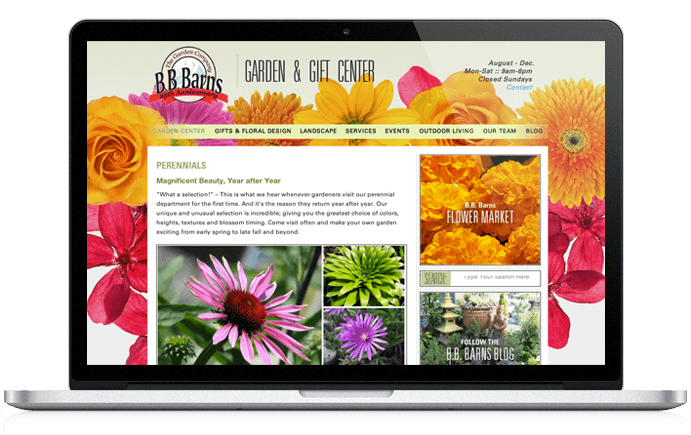 BB Barns Website Design