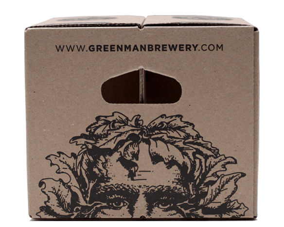 Green Man Brewery Pint Glass Carrier Packaging Design