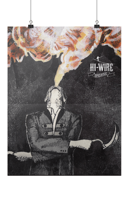 Hi-Wire Brewing Firebreather Poster Print