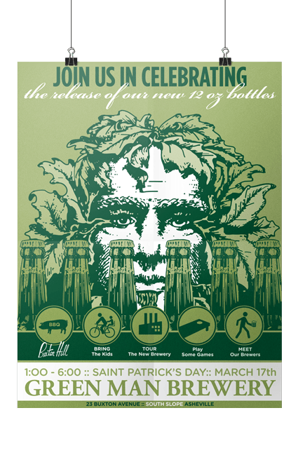 Green Man Brewery St. Patricks Day Event Poster Print