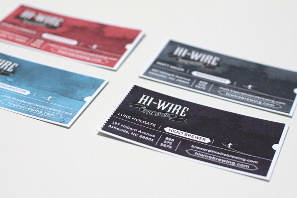 Hi-Wire Brewing Business Cards