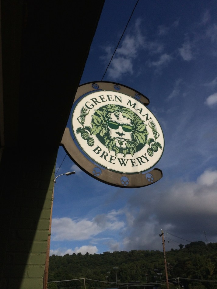 Green Man Brewery Summer Logo Building Sign
