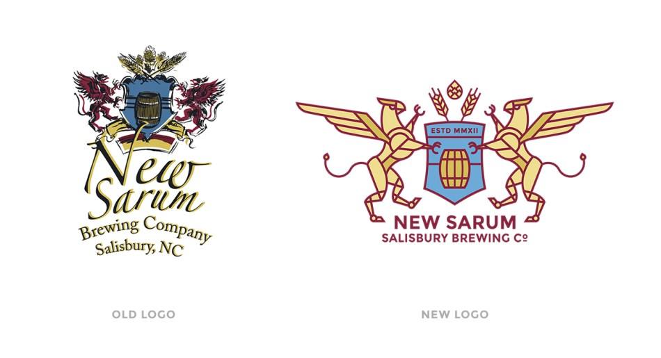 New Sarum Logo Old vs New Comparison