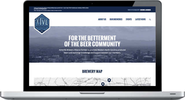 Asheville Brewers Alliance Website Design