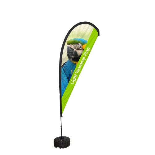 Printed Light Teardrop Flag - The Big Display Company