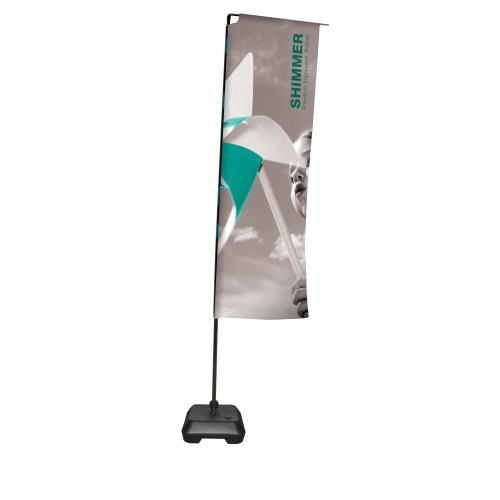 Outdoors Shimmer Flags - The Big Display Company