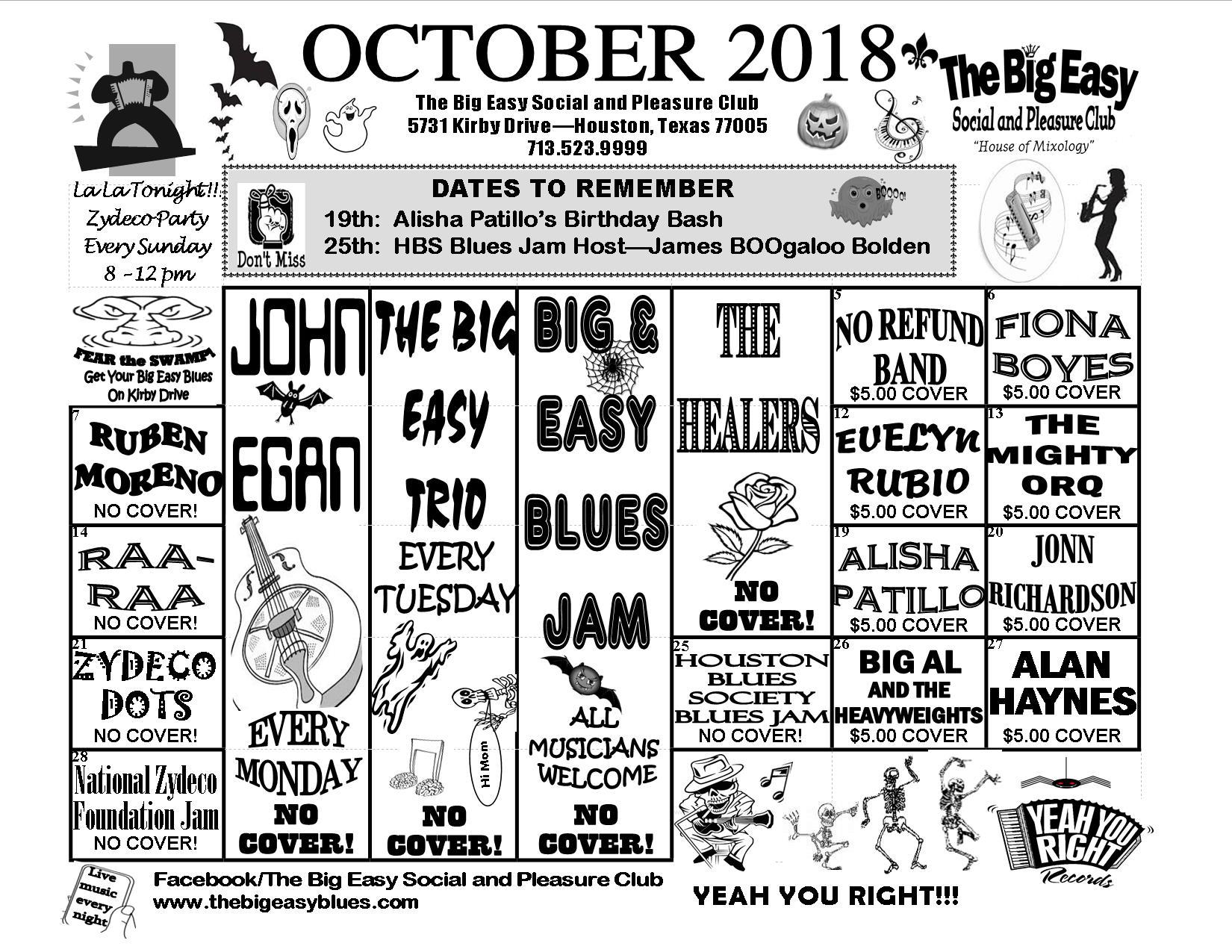 october 2018 calendar the