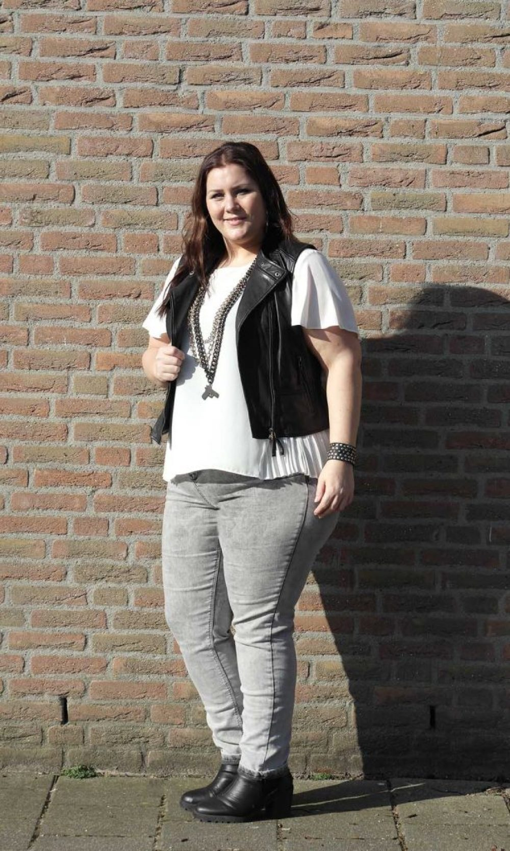 black, white & grey jeans