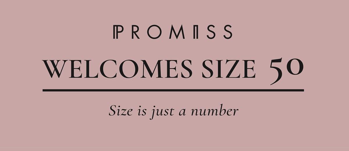 kledingmerk Promiss nu tot maat 50