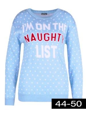 blauwe kerst trui