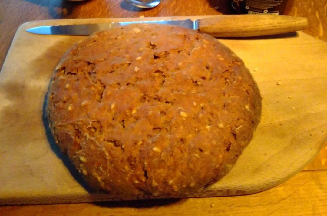 Alexis' famous sunflower seed and pecan nut wholemeal sour dough loaf